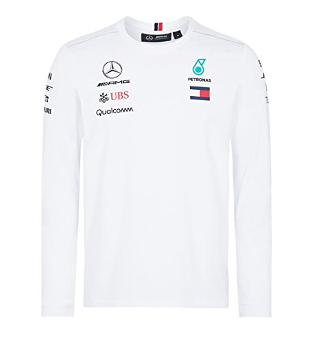 c49df9b17b607 Mercedes AMG F1 Team Driver Puma Long Sleeve T-shirt White Official 2018, White