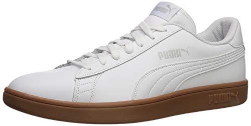 PUMA Smash Sneaker, White-Gray Violet-Gum, 13 M US (White And Gray Pumas)