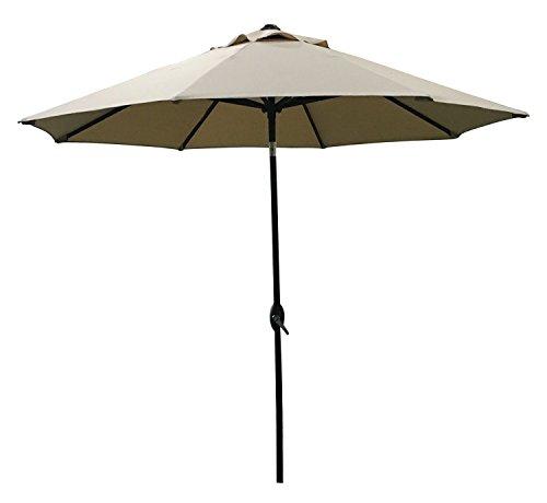 ABO Gear 9-Feet Outdoor Aluminum Patio Umbrella with Auto Ti