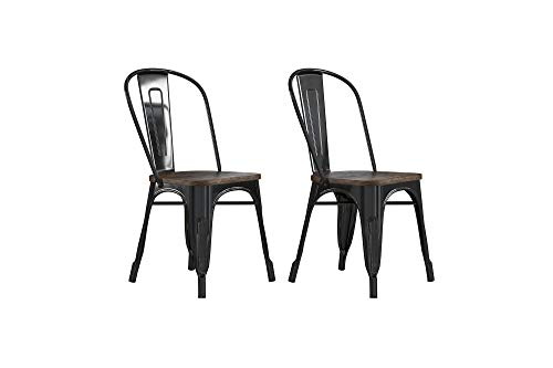 DHP C001101 Fusion Dining Chair, Black