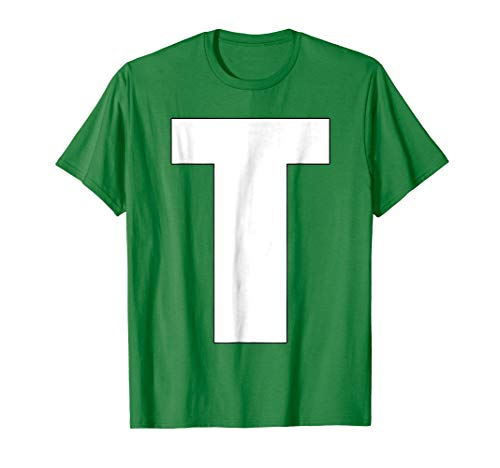 Chipmunk Halloween Costume Shirt, Letter T Teodore T Shirt