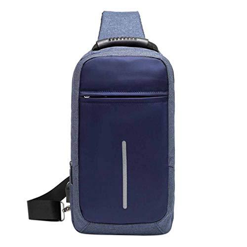 Recycled Vertical Messenger Bag - Men Sling Bag Chest Messenger Bag USB Charging Soft Canvas Shoulder Bags Pack Crossbody Vertical Square Bag