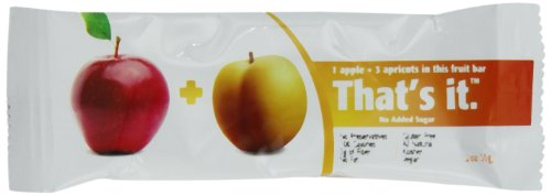That's It Fruit Bars, Apples + Apricots, 1.2 Ounce (Pack of 12) (Is All Fruit Kosher)