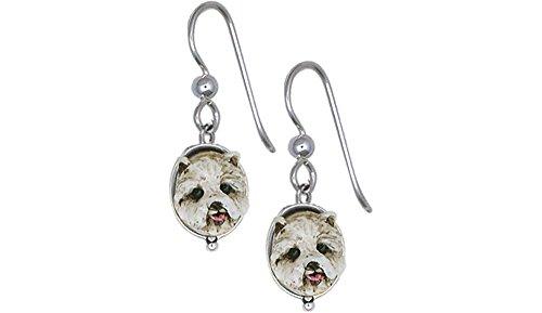 Westie Earrings Jewelry Sterling Silver Handmade West Highland White Terrier Earrings WS9-E2