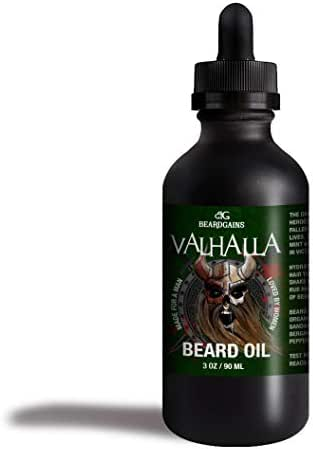 Valhalla Luxury Beard Oil | Viking Conditioner - Beard Gains: Made for A Man, Loved by Women