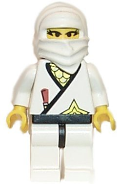 Lego White Ninja Princess   Loose