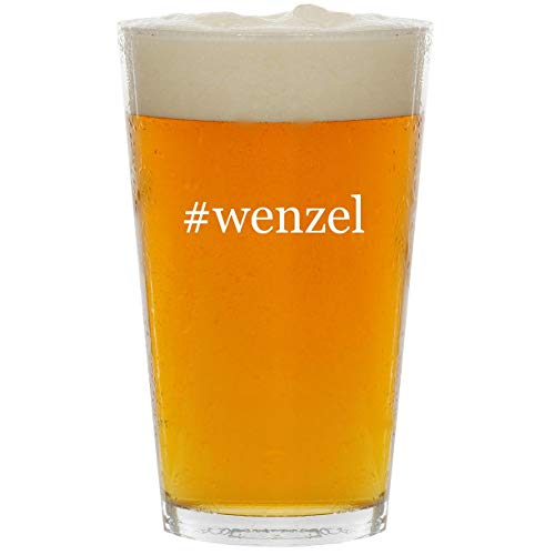 (#wenzel - Glass Hashtag 16oz Beer Pint)