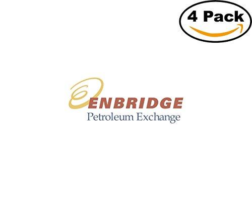 Enbridge Petroleum Exchange 4 Stickers 4X4 Inches Car Bumper Window Sticker Decal