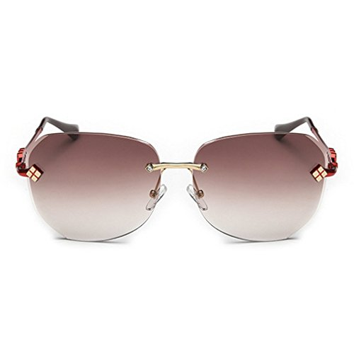 LOMOL 2016 New Womens Trendy Metal Frame UV Protection Personality Oversized Driving - Design Sunglasses Spitfire
