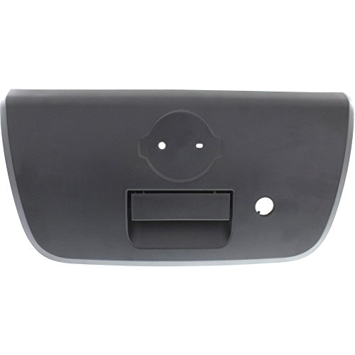 Tailgate Handle compatible with Nissan Frontier 01-04 Textured Black -