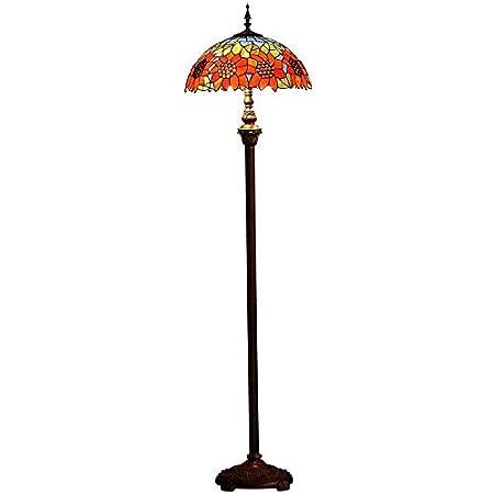 QCKDQ Luz de Piso de 16 Pulgadas, lámpara de pie Estilo Tiffany ...