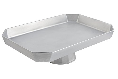 Pedestal Casserole - Bon Chef 50959106PG Aluminum/Pewter Glo Pedestal Octagonal Casserole, 22