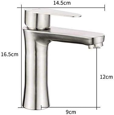 Honana 蛇口, ブラッシュ浴室の洗面台の蛇口のシンクミキサータップ温水と冷水のミキサークレーンのバスルームの蛇口 キッチン蛇口 混合水栓