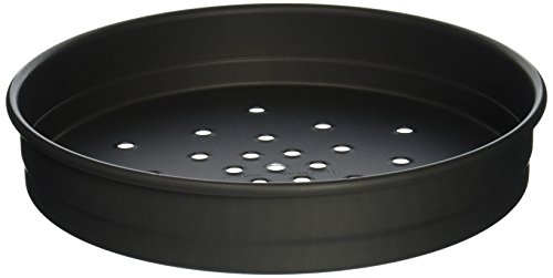 LloydPans Kitchenware USA Made Hard-Anodized 12 Inch Perforated Deep Dish Pizza Pan
