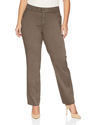 (LEE Women's Plus-Size Relaxed-Fit All Day Pant, deep Breen, 28W)