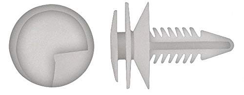 Ribbed Push In Rivet, Nylon, 6.5mm Dia, 21mm L, 6.5mm, Natural - pack of 5 by Unknown