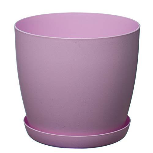 Pink plant pots amazon home garden ornaments flower pots6 colours3 sizes mat plastic plant pots mightylinksfo