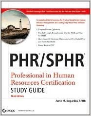 Book PHR / SPHR Professional in Human Resources Certification Study Guide 3th (third) edition Text Only
