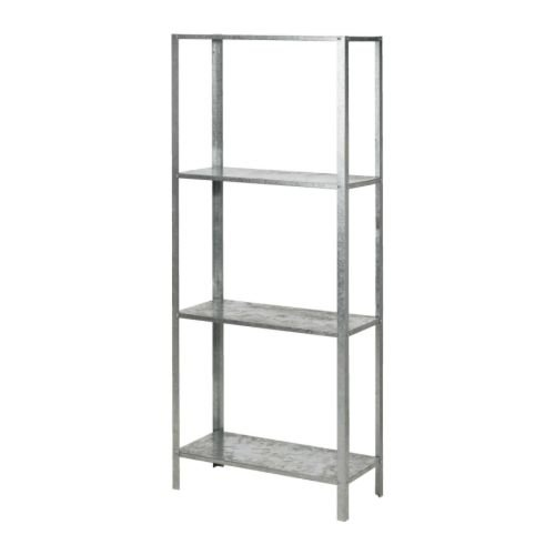 Metallregal ikea  IKEA HYLLIS - Shelving unit, galvanised - 60x27x140 cm: Amazon.co ...