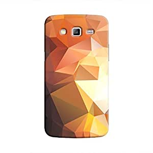 Cover It Up - Brown Gold Pixel Triangles Samsung Galaxy Grand Prime Hard Case