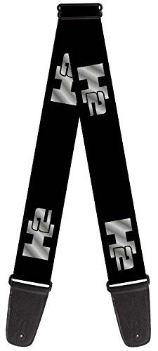 hummer-theme-nylon-guitar-strap-h2-black-silver-repeat-logo