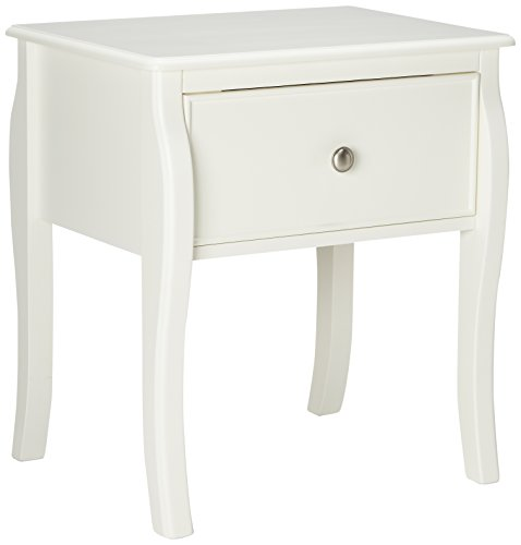 Coaster Home Furnishings 400562 Traditional Nightstand, White (Wood Table French Style Clock)