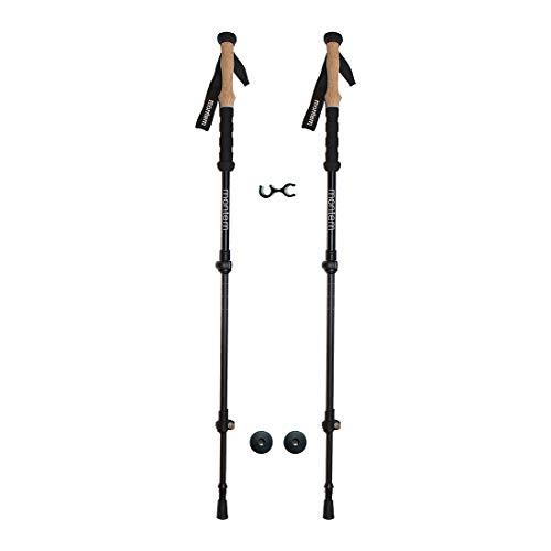 Montem Ultralight Carbon Fiber Hiking/Walking/Trekking Poles - One Pair (2 Poles) (Black)