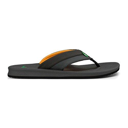 Orange Herren Black Schwarz Brumeister Flip UK Flop Charcoal Sanuk 9 0wzRazx