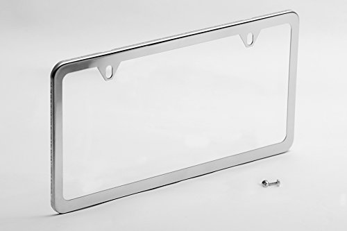 License Plate Frame Chrome Stainless - Steel 2 Hole Polished