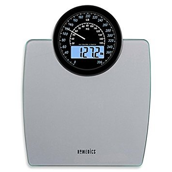 Homedics® 900 Dual Display Digital Bath Scale, Large, Traditional Speedometer Dial, 1.2