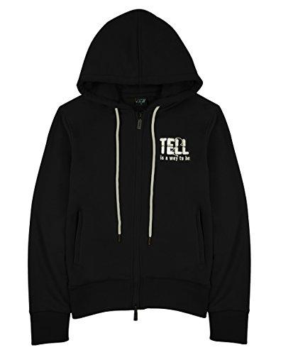 Tell - Sudadera con capucha - Manga larga - para mujer negro