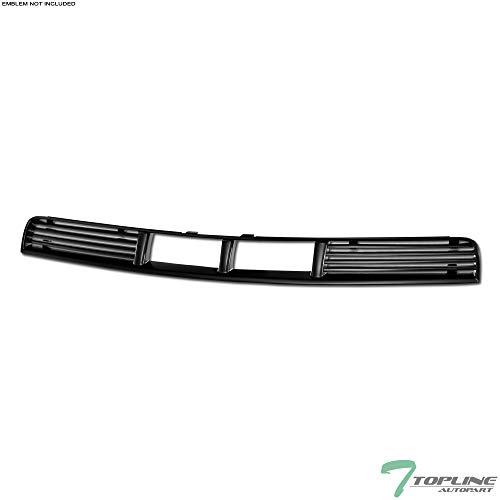 Topline Autopart Matte Black Horizontal Front Lower Bumper Grill Grille ABS For 05-09 Ford Mustang V6 With Pony Package ()