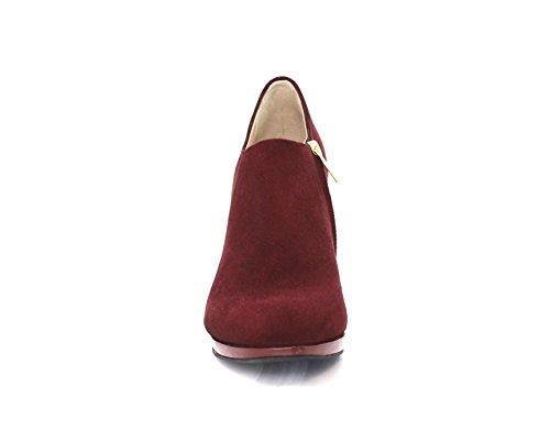 Diamond de granate para Botas rojo mujer Heels Piel zzTBw