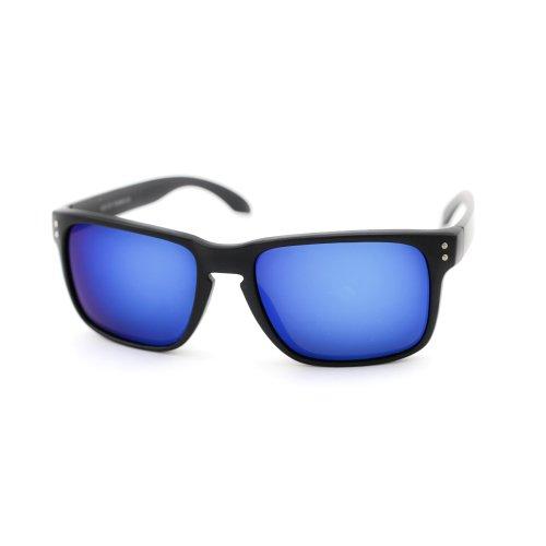 ASO Unisex Kickbacks Sunglasses Back Frame Blue Lens -22 MM width - Asos Sunglasses Men