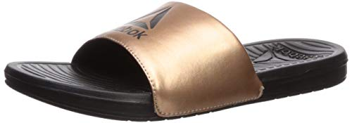 - Reebok Women's Women's Condition Slide Sandal, Rose Gold/Black, 9 B US