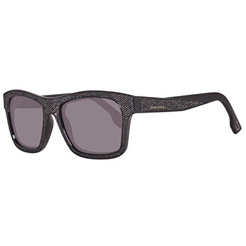 Diesel Unisex-Erwachsene Sonnenbrille DL0071 5505A, Schwarz, 55