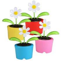 Solar Dancing Flower (Bubble Package) - Red Pot