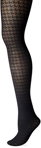 Angel Hosiery Women's Houndstooth, black, 1X-2X ()