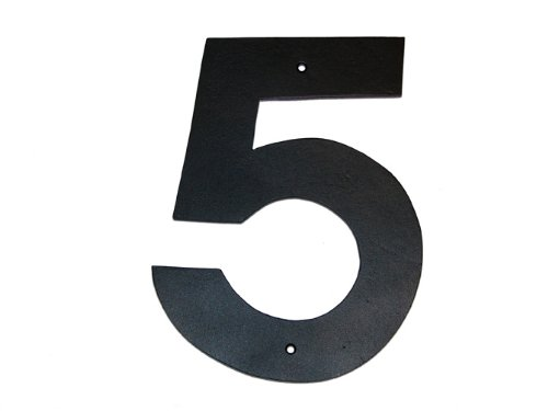 Montague Metal Products Helvetica Font Individual House Number, 5, 6-Inch