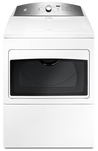 Kenmore 60372 7.4 cu. ft. Electric Dryer with Glass Hamper Door in White -Work with Alexa, includes...