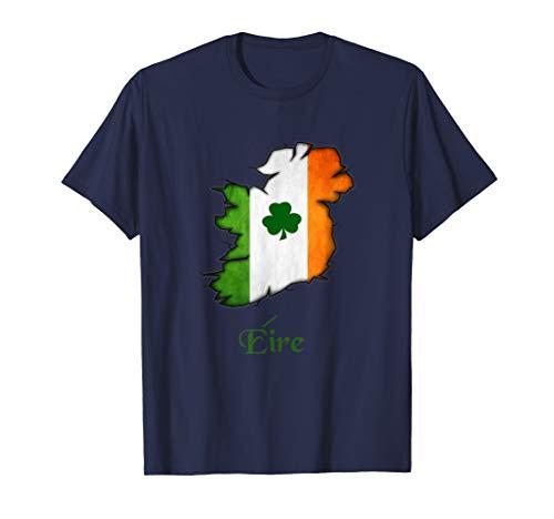 Irish Flag Shirt with Ireland Map-Eire shirt for Proud Irish
