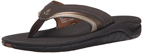 Reef Women's Girls Slap 3 Flip Flop, Brown/Bronze, 9 M US