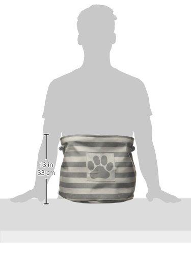 Bone Dry Striped Paw Patch Bin, Small Rectangle, Brown