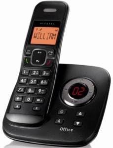 Alcatel Office 1750 Voice - Teléfono fijo digital inalámbrico (contestador, manos libres, altavoces), negro: Amazon.es: Electrónica