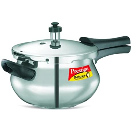 Prestige PRDAH3 3 Deluxe Plus 3 3 Liter New Flat Base Aluminum Pressure Handi For Gas And Induction Stove Small Silver