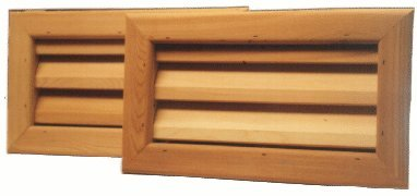 Pack of 6 -16'' x 8'' Cedar wood foundation vent for crawel space ventilation by Kimball Designs