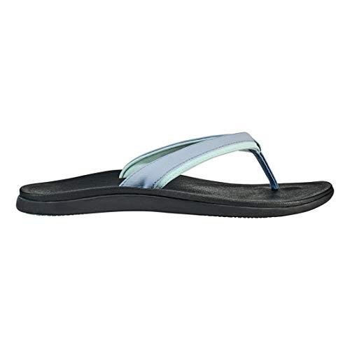 (OLUKAI Women's Punua Sandal, Cloud Blue/Black, 8)