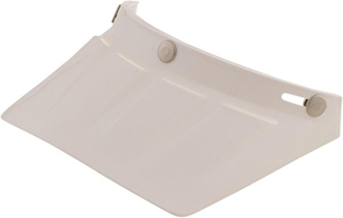 AFX Vintage 3-Snap Visor - Four Small Vents - White 01321025 by AFX