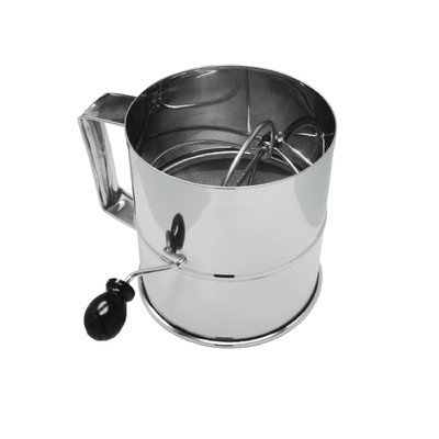 Rotary 8 Cup Stainless Steel Flour Sifter