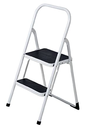 Vestil Fsl 2 Fold Up 2 Steps Ladder Steel 250 Lbs